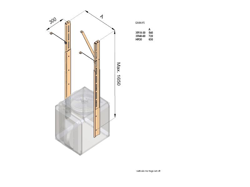 Verticale ophangset XR 80-165cm Winterwarm