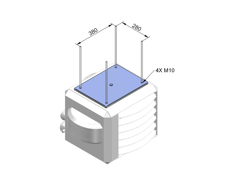Adapterset draadstangophanging XR 10-30/HR 10-20 Winterwarm