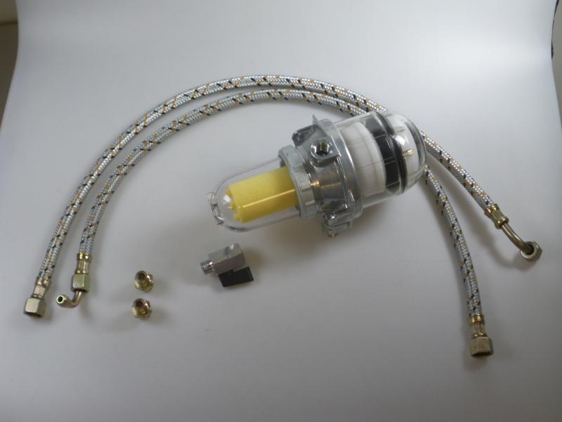 Ontluchtingset met filter, incl. olieslang 700 mm (Tigerloop)