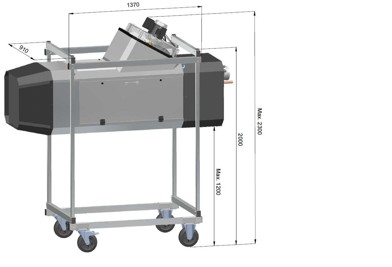 GD5000 Mobiel ophangframe (excl toestel)