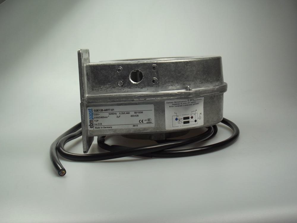 Centrifugaal ventilator EBM-2212 230V, met gat + kabel 45cm